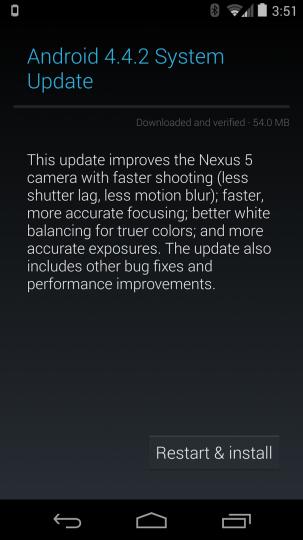 Android Update 4.4.2 Screenshot