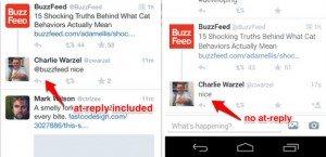 Αφαίρεση των @replies απο το Τwitter; 1