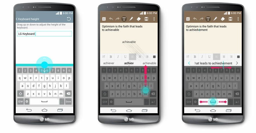 LG G3 - Smart Keyboard feature