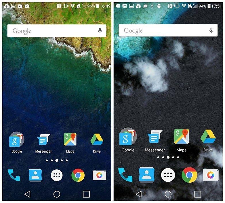Η εμφάνιση τυπικού Stock Android