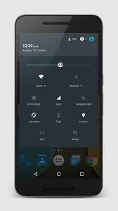 Η μπάρα ειδοποιήσεων ενός τυπικού stock Android