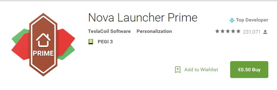 ΠΡΟΛΑΒΕ ΤΩΡΑ! Ο Nova Launcher Prime με 0,50 ευρώ για λίγο! 2