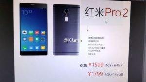 Xiaomi Redmi Pro 2: Διέρρευσε με 6GB RAM και μπαταρία 4.500mAh!