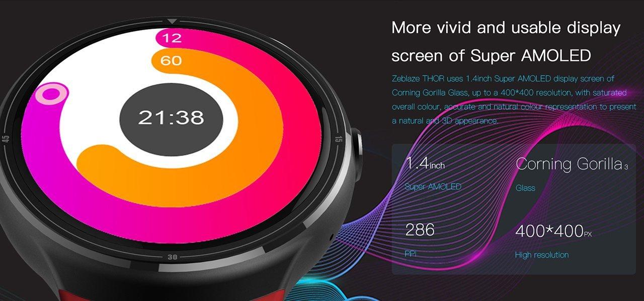 Zeblaze THOR: Καινοτόμο smartwatch με Super AMOLED οθόνη και 16GB ROM 1