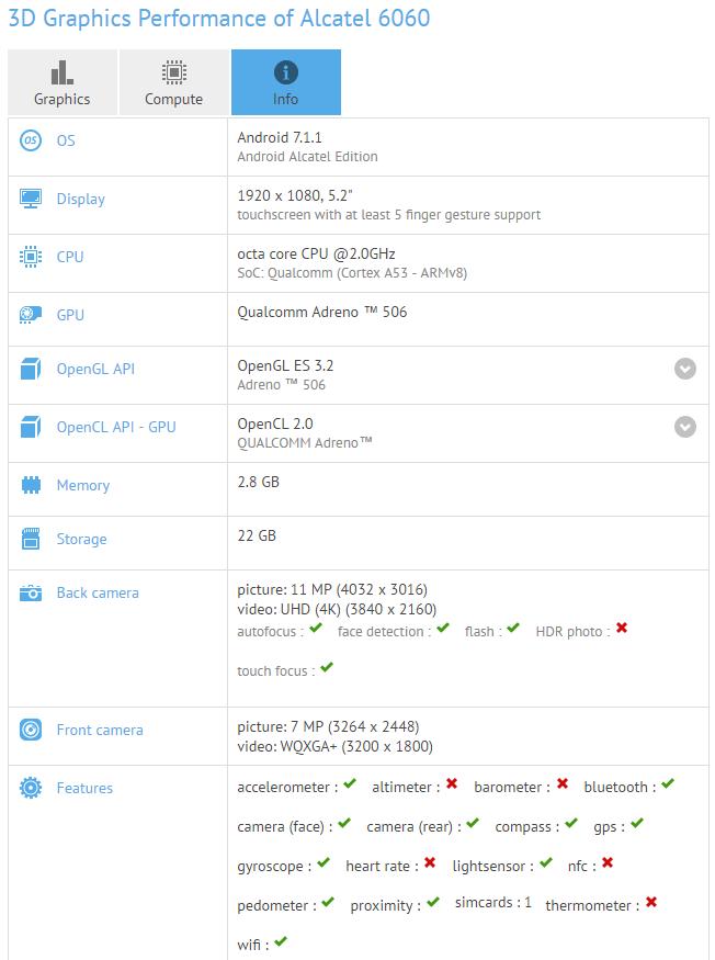 Alcatel Idol 5: Εμφανίζεται στο GFXBench ως mid-range πρόταση!