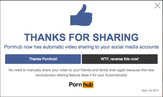 Και το βραβείο της πιο τρομακτικής φάρσας για φέτος πάει στο Pornhub! 1