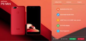 Elephone P8 Mini: Έρχεται σε κόκκινο και μπλε χρώμα 3