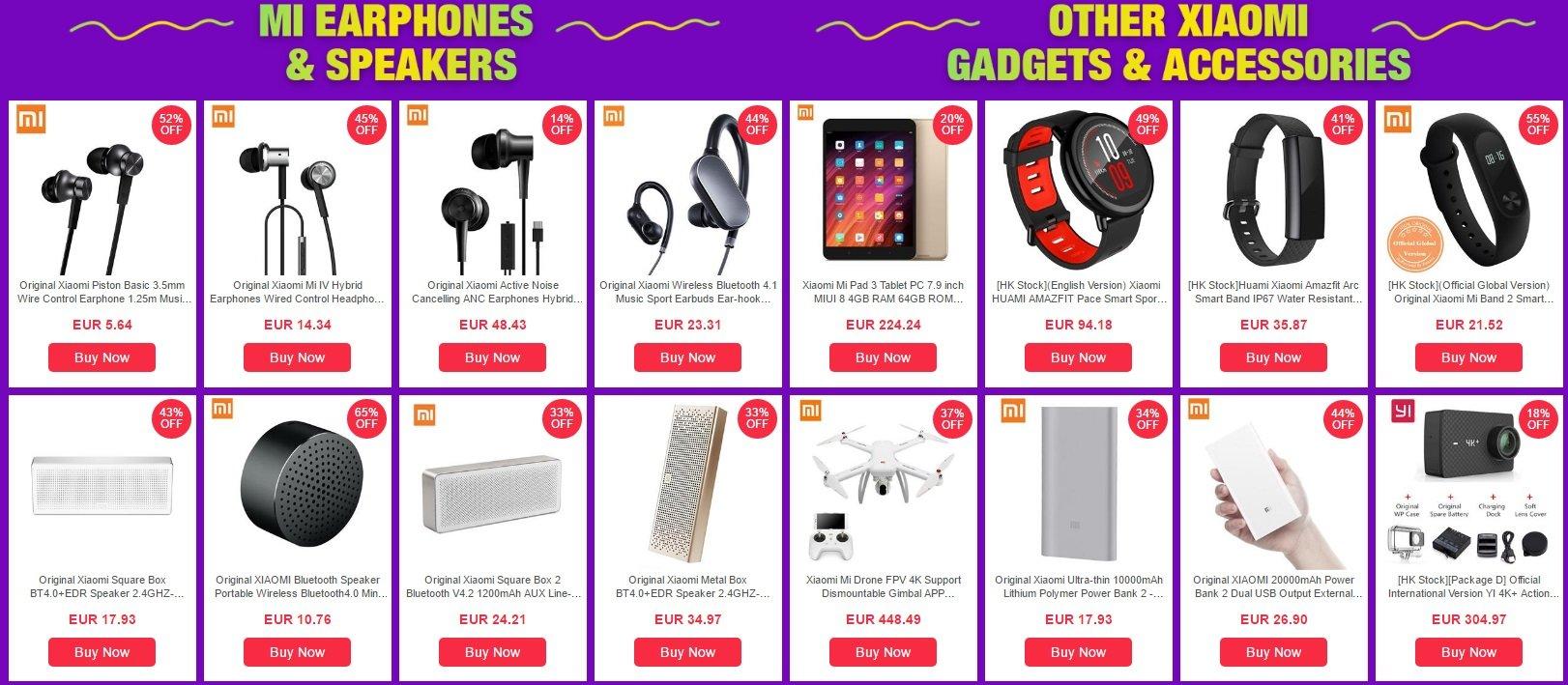 Μοναδικές προσφορές σε Xiaomi συσκευές, μόνο για λίγο στο Geekbuying! 2