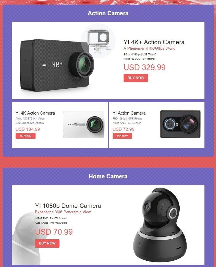 Μοναδικές τιμές σε Xiaomi Yi action cameras, μόνο για λίγο! 1