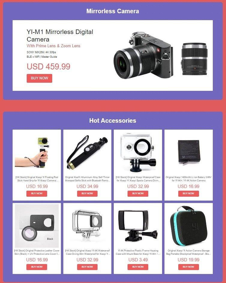 Μοναδικές τιμές σε Xiaomi Yi action cameras, μόνο για λίγο! 2