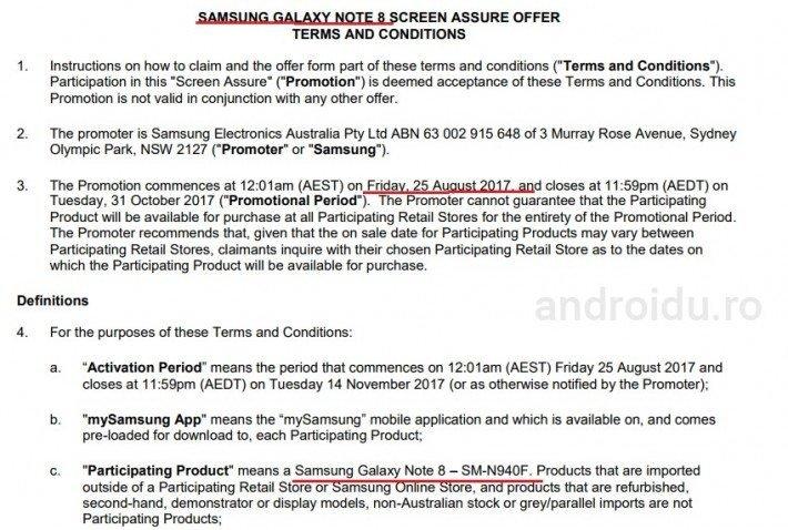 Εσωτερικό έγγραφο της Samsung, αναφέρει πως το Galaxy Note 8 θα είναι έτοιμο για προ-παραγγελία από 25/8 1