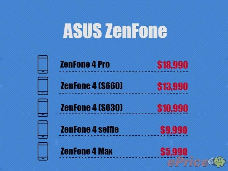 Διαρρέουν οι τιμές των Asus Zenfone 4 και Zenfone 4 Pro 1