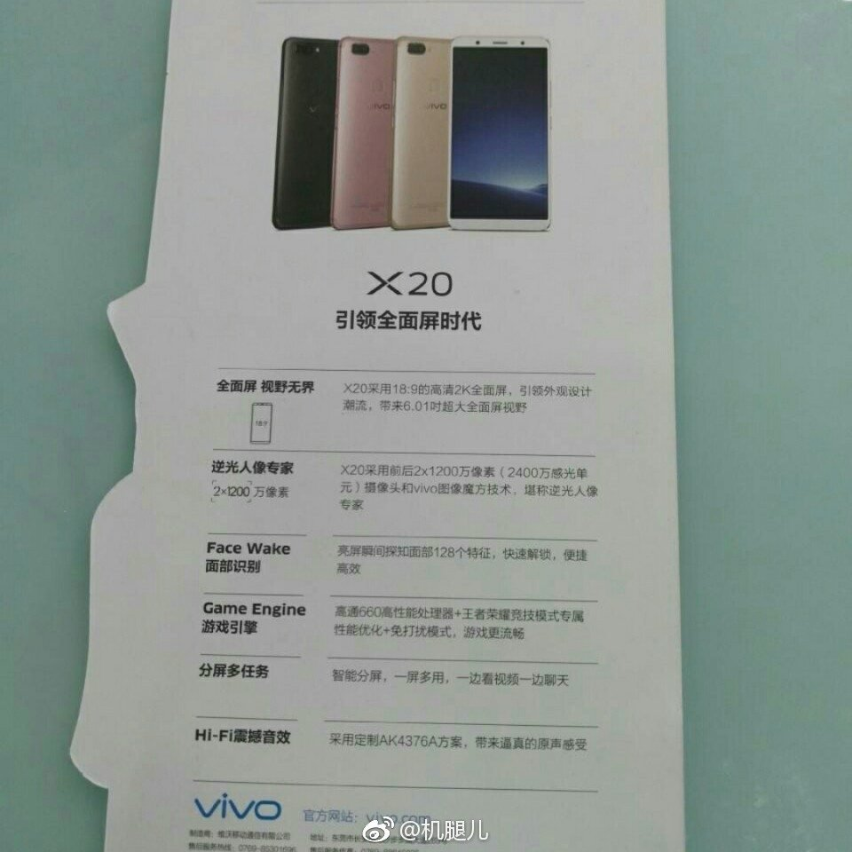 Επιβεβαιώνονται τα χαρακτηριστικά του Vivo X20 μέσω νέων εικόνων της συσκευασίας του 1