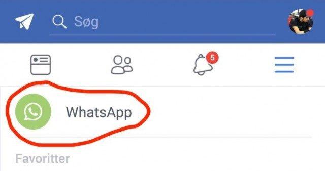 Προστίθεται ή έστω δοκιμάζεται τουλάχιστον το νέο WhatsApp button στην εφαρμογή του Facebook 1