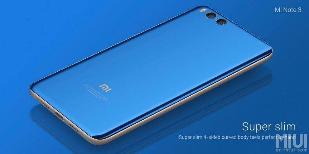 Εμφανίστηκε και το νέο Xiaomi Mi Note 3 με αρκετά νέα χαρακτηριστικά πάνω του 3