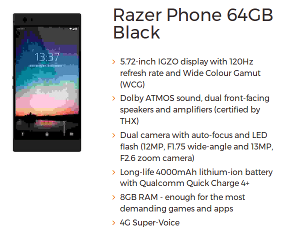 "Razer Phone: Μια συσκευή που φαντάζει ""εξαιρετική"" από άποψη προδιαγραφών, το λέει και μια νέα διαρροή 1"