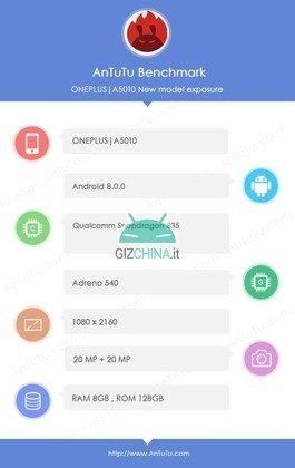 Ένα screenhost από το AnTuTu για το νέο OnePlus 5T που επιβεβαιώνει ορισμένα από τα χαρακτηριστικά του