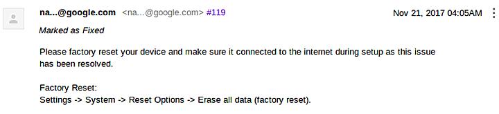 Έψαξε και βρήκε την λύση η Google για το πρόβλημα με το ξεκλείδωμα του bootloader στα νέα Pixel 1