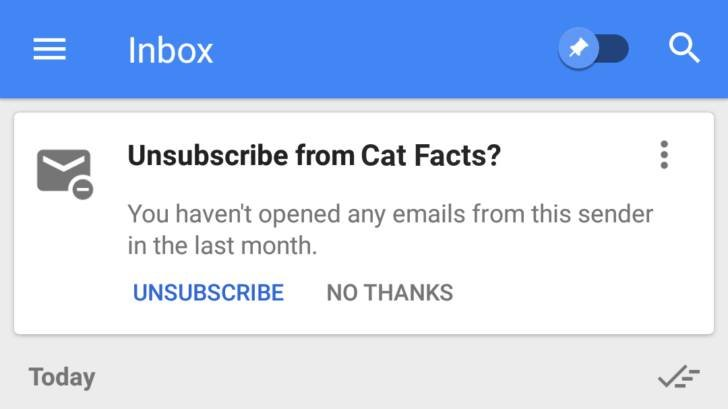 Google: Θα φέρει νέα λειτουργία που θα σας επιτρέπει την εύκολη και μόνιμη διαγραφή ενοχλητικών emails 1