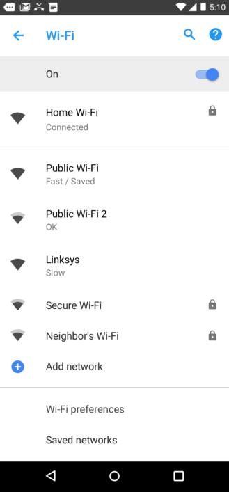 Προστίθεται η λειτουργία ενδείξεων για την ταχύτητα των δημόσιων δικτύων Wi-Fi στο Android 8.1 Oreo