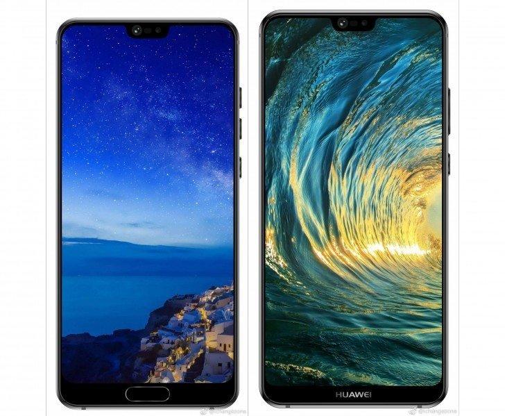 Τα Huawei P20 και P20 Plus εμφανίστηκαν σε νέα press renders με τις εγκοπές τους 1