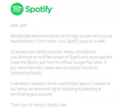 Το Spotify μπλοκάρει τις πειρατικές εκδόσεις της εφαρμογής του 1