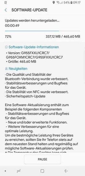 Οι μονάδες Samsung Galaxy S8 & S8+ λαμβάνουν το patch ασφαλείας του μήνα Μαρτίου 1