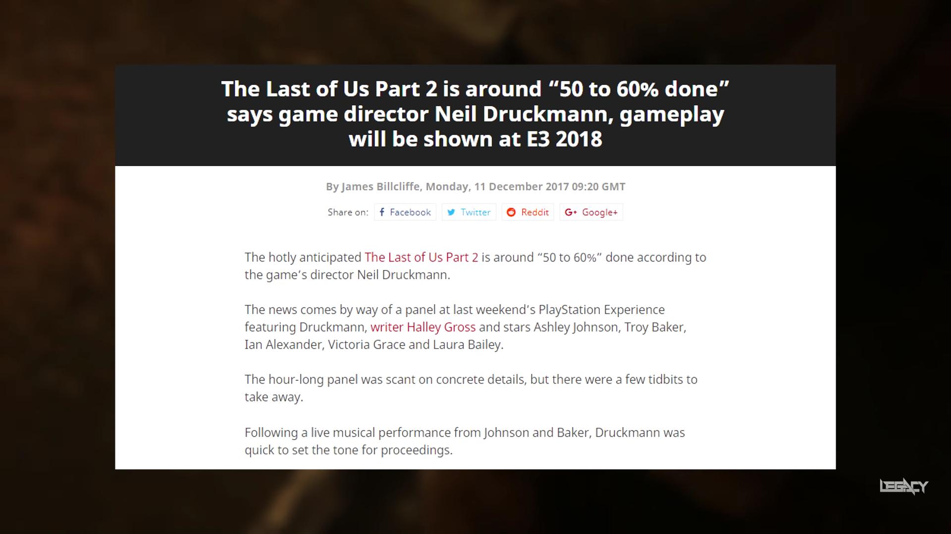 Φήμες θέλουν το The Last Of Us 2 φέτος... - Geekdom News 3