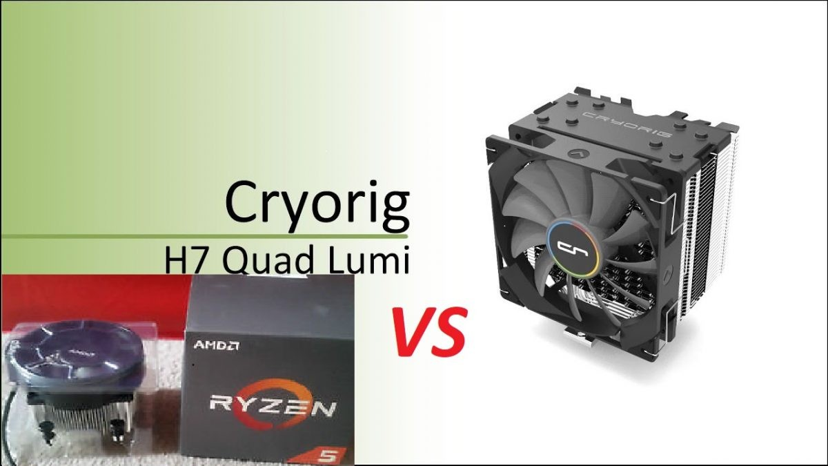 Wraith Spire cooler Vs Cryorig H7 Quad Lumi για Ryzen 5 1600 – Geekdom Hardware