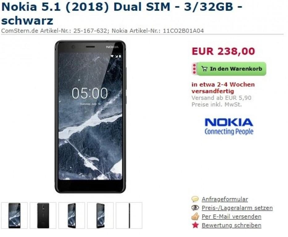 Έτοιμο για προ-παραγγελία στη Γερμανία το νέο Nokia 5.1 1