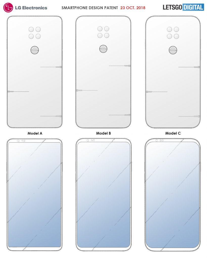 Το τελευταίο δίπλωμα ευρεσιτεχνίας της LG προβλέπει ομοιόμορφα πλαίσια και τετράγωνη διάταξη φακών πίσω