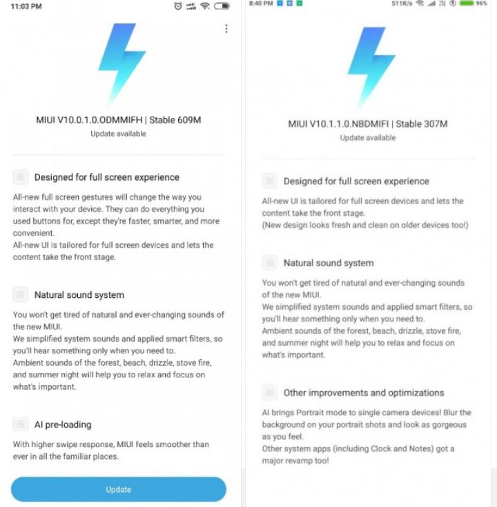 To Mi Max 1ης γενιάς και το Redmi 6 Pro λαμβάνουν νέες ενημερώσεις 1