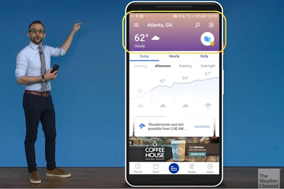Η έκδοση του Weather Channel για Android απέκτησε νέο UI 1