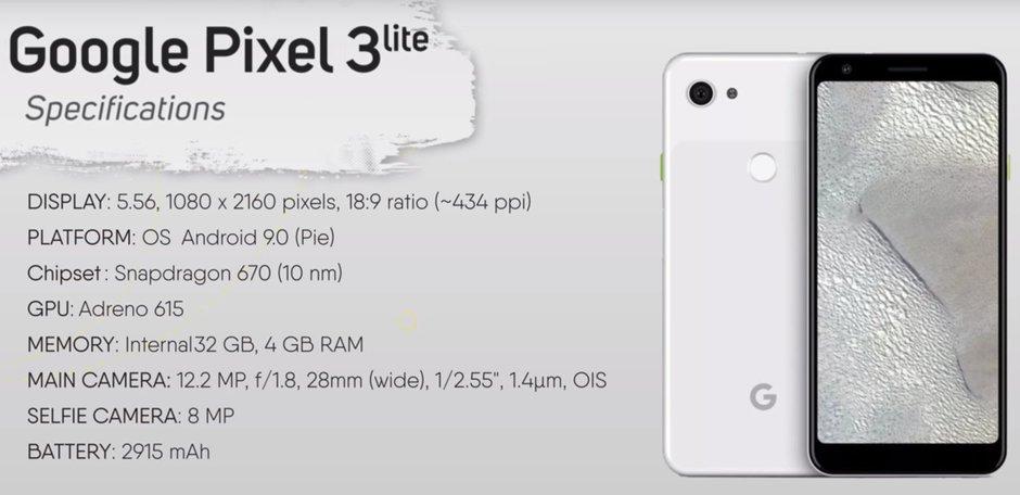 Google Pixel 3 Lite Σε ένα νέο σύντομο review βίντεο εμφανίζεται το επερχόμενο Google Pixel 3 Lite