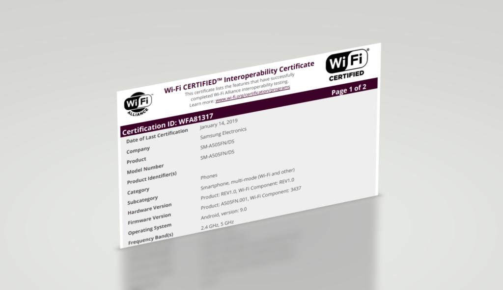 Τι έλειπε από το Galaxy A50; Ένα πιστοποιητικό WiFi Alliance, όμως μόλις το πήρε! 1