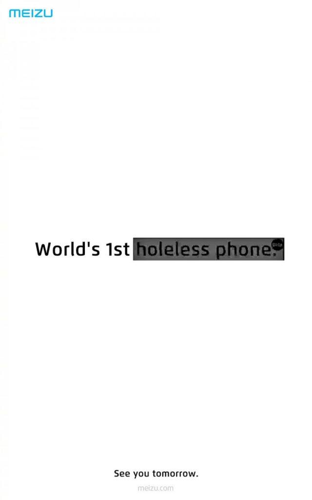 "Meizu: Μας φέρνει το δικό της πρώτο τηλέφωνο με ""τρύπα"""