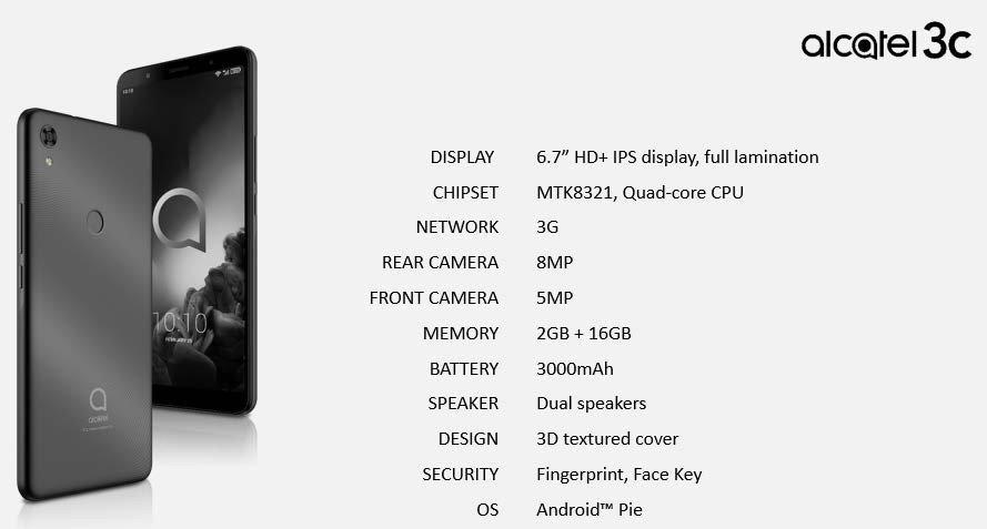 Η σειρά μοντέλων 2019 της Alcatel αποκαλύφθηκε και περιλαμβάνει τα 3V, 3L, 1s και 1V 5