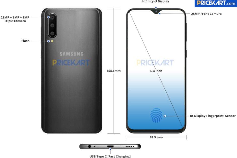 Τριπλή κάμερα και minimal σχεδιασμό εγκοπής στο Samsung Galaxy A50 2