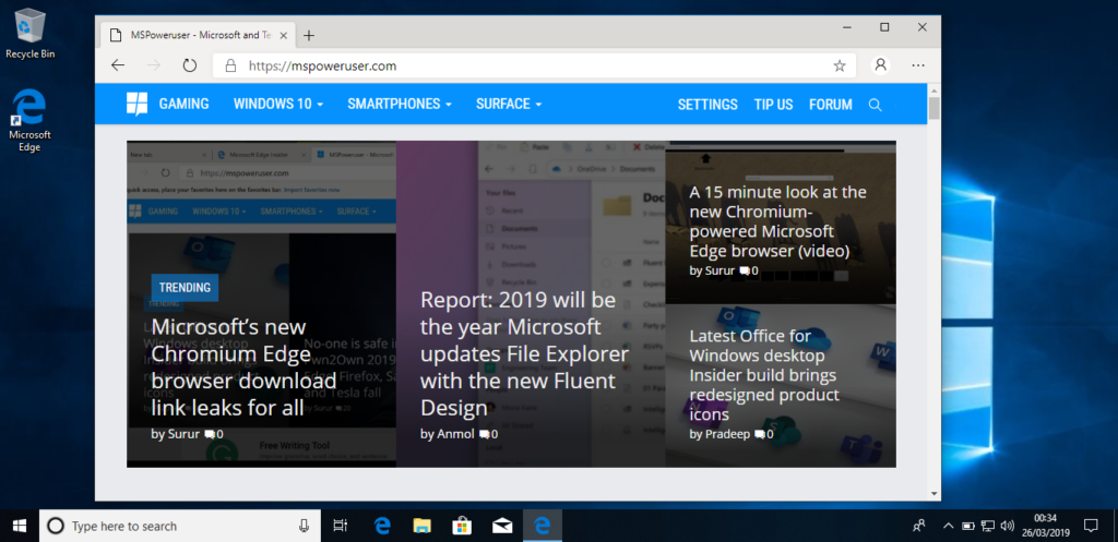 Μια πιο κοντινή ματιά στον Chromium-based Microsoft Edge για τα  Windows 10 1