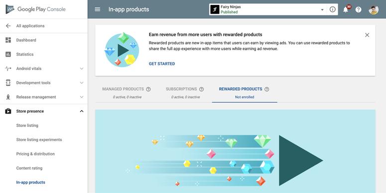google play rewarded products 1 Περισσότερα έσοδα για τους προγραμματιστές μέσω των νέων Rewarded Products
