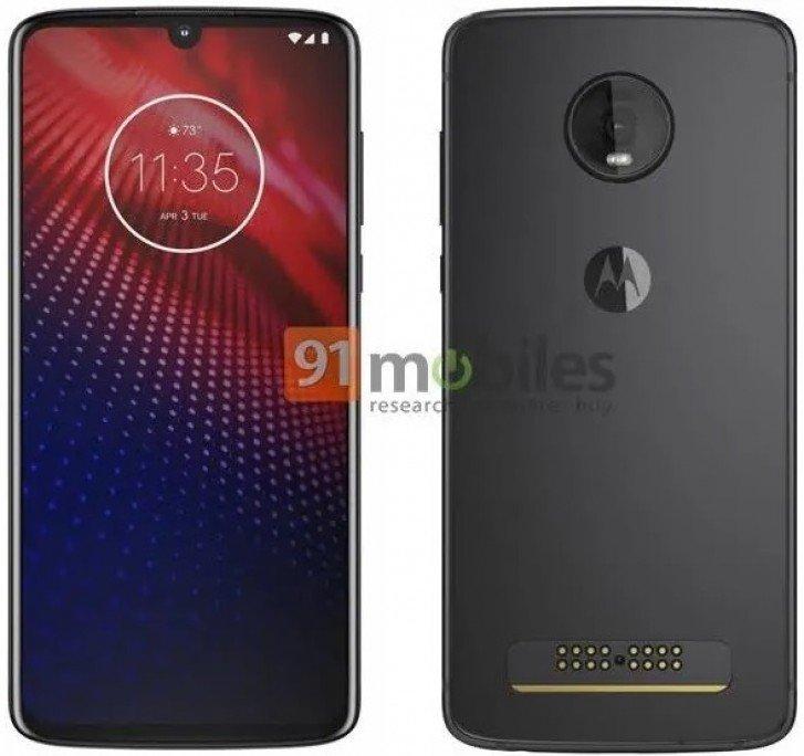 Nέα official εικόνα του Motorola Moto Z4 δείχνει εγκοπή watedrop και μία μόνο πίσω κάμερα