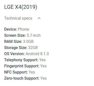 LG X4 (2019): Νέα έκδοση για φέτος αλλά με Android 8.1 Oreo 2