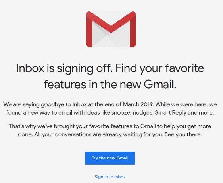 Αυτή είναι η καταλυτική ημερομηνία για τον τερματισμό του Google Inbox