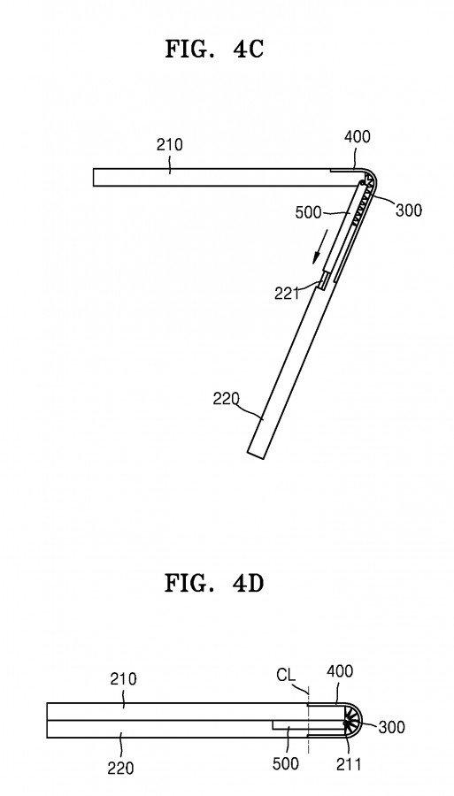 Tα νέα διπλώματα ευρεσιτεχνίας της Samsung δείχνουν συσκευές που διπλώνουν προς τα έξω