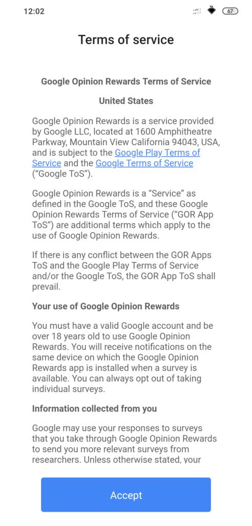 Η αναβάθμιση της εφαρμογής Google Opinion Reward είναι διαθέσιμη 4