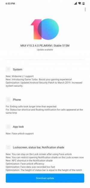 Έφθασε στο Pocophone F1 η νέα σταθερή έκδοση του MIUI 10.3.4 1