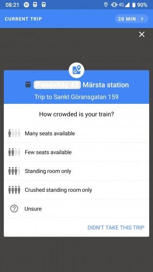 Το Google θέλει να μάθει πόσο γεμάτο είναι το τρένο σας που μεταφέρεστε! 1