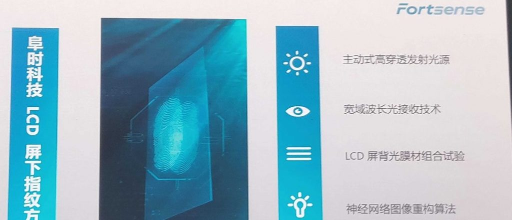 Έχει βρει την λύση η Fortsense για χρήση σαρωτή δαχτυλικών αποτυπωμάτων κάτω από πάνελ LCD 1