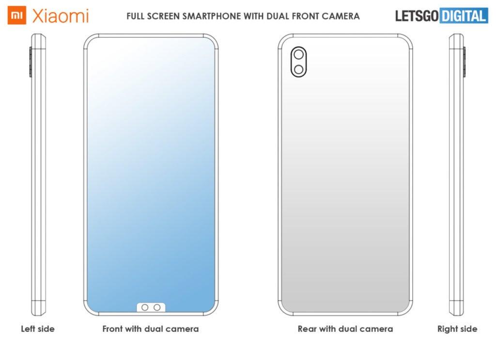 Το νέο δίπλωμα ευρεσιτεχνίας της Xiaomi δείχνει ένα smartphone με διπλές κάμερες μπροστά στο κάτω μέρος 2