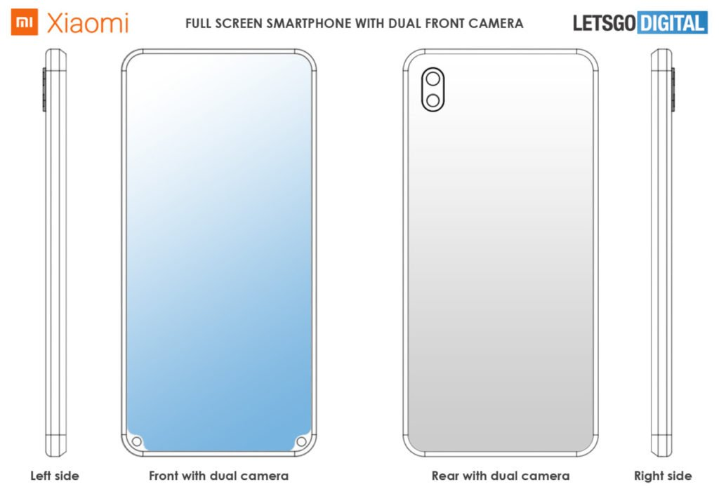 Το νέο δίπλωμα ευρεσιτεχνίας της Xiaomi δείχνει ένα smartphone με διπλές κάμερες μπροστά στο κάτω μέρος 1